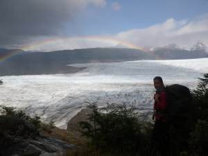 Rainbow over Glacier Grey.