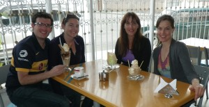 Helado with Eric, Milena, and Daniela.