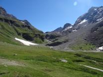 At the glacier de Rhême Golette, a large glacier in the Réserve naturelle de la Grande Sassière
