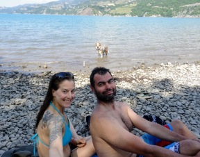 At lac de Serre-Poncon.